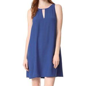 BB Dakota Indigo Phoebe KeyHole Crepe Shift Dress